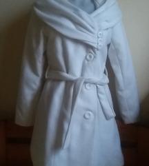 Made in Italy fehér szövet kabát, kb. M/L-es
