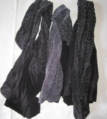 3 pár új fekete ezüst szálú női alkalmi harisnya