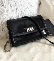 ÚJ címkés Zara fekete láncos táska
