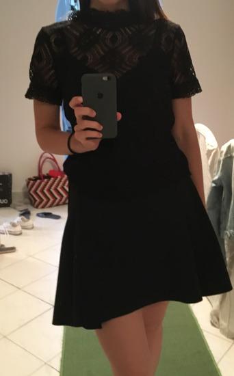 H&M neopren fekete szoknya újszerű
