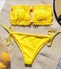 Sárga megkötős bikini