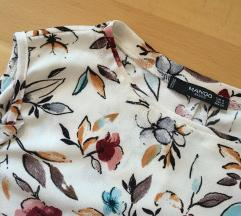 Virágmintás kivágott vállú megkötős ruha /Mango/