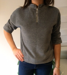 Topshop szürke thermo pulcsi pulóver 38 M