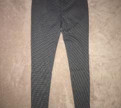 Szürke aprókockás leggings S M 36 38