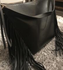 Nagyméretű rojtos táska