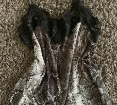Zara divatos szexi csipke pántos felső