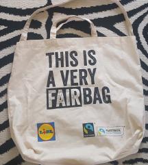 Újsz. Fair Trade nagy  öko szatyor Belgiumból