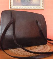 FAN BAG  Nagyméretű valódi bőr hosszpántos táska