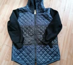 Fekete-kék átmeneti kabát