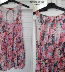 Bershka virágos nyári ruha 36-38