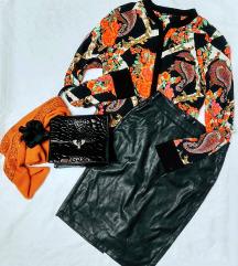 🍁 színes őszi blúz, lakk táska