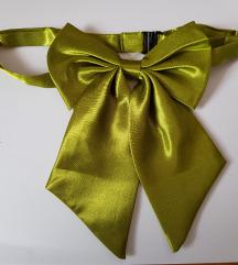 ÚJ NŐI szatén csokornyakkendő – olivazöld