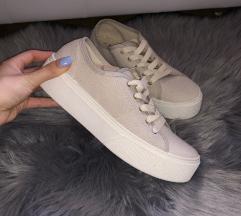 ÚJ! Bershka fehér világos utcai cipő