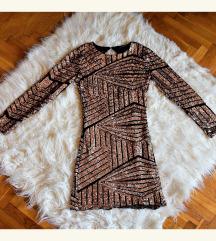 Új ZARA flitteres arany ruha