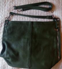 Eredeti bőrtáska, zöld színben