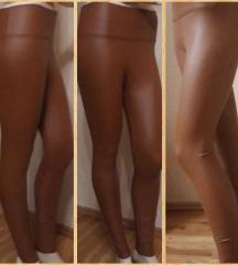 Barna bőr leggings l/xl