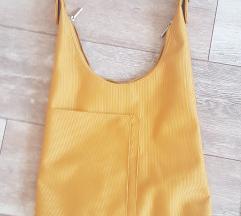 Mustár sárga színű táska