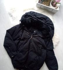 Zara fekete valódi TOLL kabát M