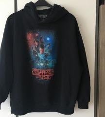 Stranger things unisex kapucnis fekete  pulóver XL