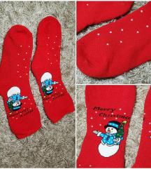 Piros mikulás karácsonyi zokni új