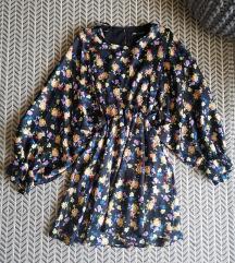 Zara virágos selyem ruha M