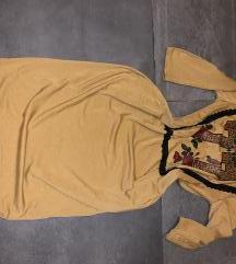 My77 mustár oversize ruha