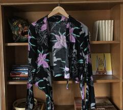 Virágos megkötős ing, 36