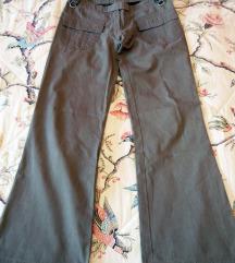 Khaki szürke vászon nadrág