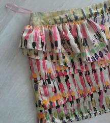 Topshop színes szatén fodros mini szoknya 38/M