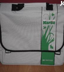 Újszerű fehér zöld gyönyörű táska