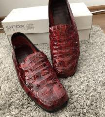 Piros bőr női félcipő