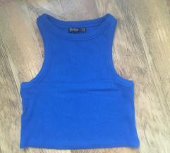Bershka kék croptop M