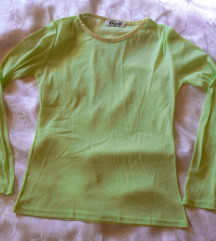 Zöld áttetsző sztreccs póló