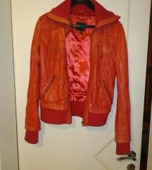 Bershka műbőr kabát (M)