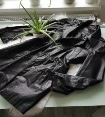 Bőr hatású kabát L/XL