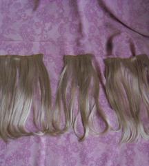 új 1001C világos szőke 8 csatos haj 35,5 cm