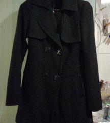 Fekete szövet kabát m