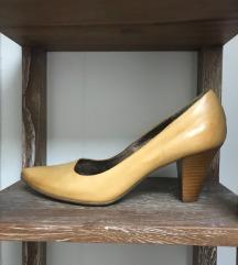 Mustársárga olasz bőrcipő