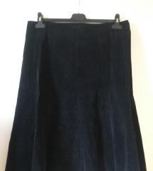 Fekete kordbársony szoknya, L/XL-es