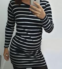 Bordázott mini ruha