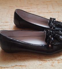 Új lakk bőr mokaszin cipő