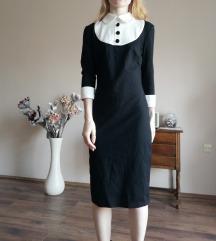 Fekete ruha fehér gallérral Envy