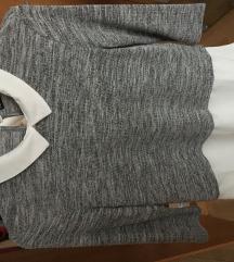 Terranova szürke-fehér ing/blúz felső ÚJ