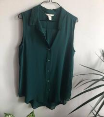 H&M ujjatlan smaragdzöld blúz