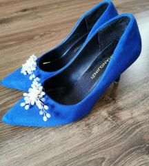 Királykék menyasszonyi cipő