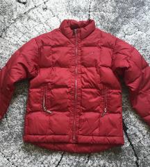 Piros Tommy Hilfiger dzseki kabát pufi toll XS