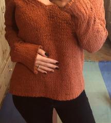 Benetton narancs kötött pulóver