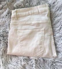 H&M normál derekú fehér nadrág