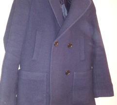 Sötétkék szövet kabát S-M