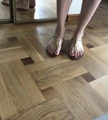 Új Ralph Lauren arany bőrszandál 39